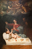 ROME, MARCH - 23: The Nativity paint from San Luigi church. 2012, Italy. — Foto de Stock