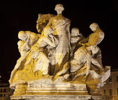 Rome - Sculpture from Vittorio Emanuele bridge — Stock Photo