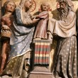 Stock Photo: Paris - Notre Dame cathedral - Presentation in Temple relief