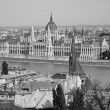 Budapest - outlook from walls to parliament — Stock Photo