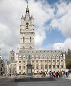 Brussels - Gothic Town hall or Belfort van Gent from east — 图库照片