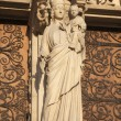 Paris - Virgin Mary statue from Notre Dame cathedral — Stock Photo #14853859