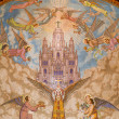 Barcelona - mosaic from church Sagrad Cor de Jesus - Foto Stock
