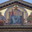 Rome - Jesus Christ the Teacher - mosaic from facade of Saint Paul s basilica - St. Paolo fuori le mura basilica - Stock Photo