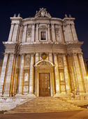 ROME - MARCH 21: Nightly facade of Saint Luca e Martina church on March 21, 2012 in Rome, Italy. — Stock Photo