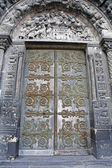 Paris - gate of side portal of st. Denis cathedral — Foto Stock
