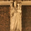 Paris - Virgin Mary statue from Notre Dame cathedral — Stock Photo #14881835