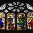 Paris - windowpane form Saint Eustache church — Stock Photo