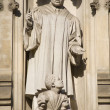 London - Westminster abbey - saints from west facade - Martin Luther King — Stock Photo