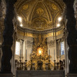 Rome - main altar of st. Peter s basilica — Stock Photo