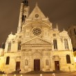 Paris - St. Etienne-du-Mont gothic church in night — Stock Photo #14884015