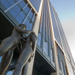 BRUSSELS - JUNE 22: Sculpture of Female Nudes Embracing for Brussels Finance Tower by Fonderia D'Arte De Andreis on June 22, 2012 in Burssels. — Stock Photo