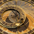 Prague - detail of tower-clock — Stock Photo