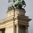Budapest - Detail of Millennium Monument in Heroes' Square — Stock Photo