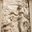 Milan - Baptism of Christ - relief - Stock Photo
