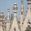 Mil- detail from roof of Duomo cathedral — Stock Photo #14887227