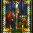 Jesus on cross - windowpane from Slovaki- Senec — Stock Photo #14887239