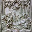 Royalty-Free Stock Photo: Milan - detail from main bronze gate -  birth of Virgin Mary by Ludovico Pogliaghi, 1906