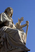 David - king of Israel - statue in Rome — Stock Photo