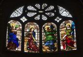 Parijs - windowpane formulier saint eustache kerk — Stockfoto