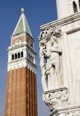 Venice - Adam from Doge palace and bell-tower — Stock fotografie