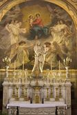 Side altar from st. Germain d Auxerrois gothic church in Paris — Stock Photo