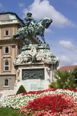 Prince Eugene monument in Budapest for the castle — Stock Photo