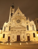 Paris - St. Etienne-du-Mont gothic church in night — Stock Photo