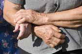 Hands of old women — Stock Photo