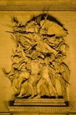 Paris - relief from Triumph arch at night — ストック写真