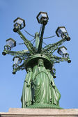 Prague lamp on the Castle square — Stock fotografie