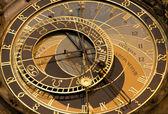 Prague - detail of tower-clock — Stock Photo