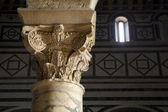Florence - column capital from church San Miniato al Monte — Stock Photo