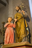Holy joseph and little Jesus — Stock Photo