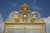Paris - gold gate of Versailles palace — Stock Photo