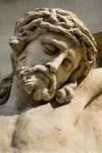 Vienna - head of Jesus on the cross - Pfarre Lichtental — Stockfoto