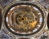 Prague - cupola of st. Francis Seraph church - Last Judgment by J.K. Liska and V.V. Reiner — Стоковое фото