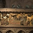 Paris - reliefs from Jesus life - Notre-Dame cathedral — Stock Photo #14890687