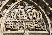 Praga - detalle del portal de la catedral de san vito — Foto de Stock