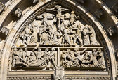 Prague - detail from portal of st. Vitus cathedral — Foto Stock