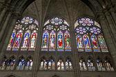 Paris - sanctuar windowpane of Saint Denis cathedral — 图库照片