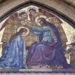 Rome - Mosaic of Jesus Christ and coronation of holy Mary from facade — Stock Photo