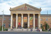 BUDAPEST - SEPTEMBER 22: Front of the Art Exhibition Hall built in year 1895 in eclectic-neoclassic al style on September 22, 2012 in Budapest. — Stock Photo
