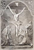 SLOVAKIA - 1727: Resurrection. Lithography print in Missale romanum published in year 1727. — Stock fotografie