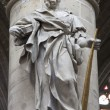 BRUSSELS - JUNE 22: Statue of st. Jude Taddeus by sculptor Jerome Duquesnoy le Jeune from year 1644 from gothic cathedral of Saint Michael and Saint Gudulon June 22, 2012 in Brussels. — Stock Photo #18576877