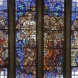 BRUSSELS - JUNE 22: Last supper of Christ. Detail from windowpane of National Basilica of the Sacred Heart built between years 1919 - 1969 on June 22, 2012 in Brussels. — Stock Photo
