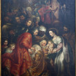 BRUSSELS - JUNE 21: Adoration of Magi by painter L. Vostermfrom Saint John Baptist church on June 21, 2012 in Brussels. — Stock Photo #18579067
