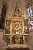 MARIANKA - DECEMBER 6: Neo gothic main altar in holy shrine Marianka from west Slovakia on December 6, 2012 in Marianka, Slovakia. — Stock Photo