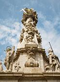 Trinity baroque column in Budapest — Stock Photo