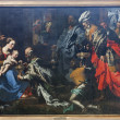 BRUSSELS - JUNE 21: Adoration of Magi by painter Theodor vLoon from 17. cent. in Saint Nicholas church on June 21, 2012 in Brussels. — Stock Photo #18580165